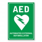 AED Defibrillator Sticker Sign