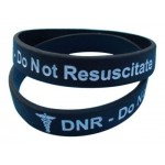 DNR - Do Not Resuscitate Medical Alert Silicone wristband